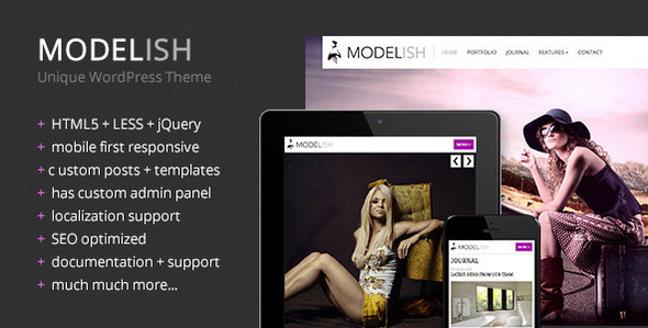 Modelish – Unique WordPress Theme