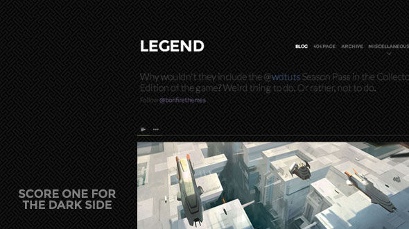 LEGEND – Dark, Clean, Responsive