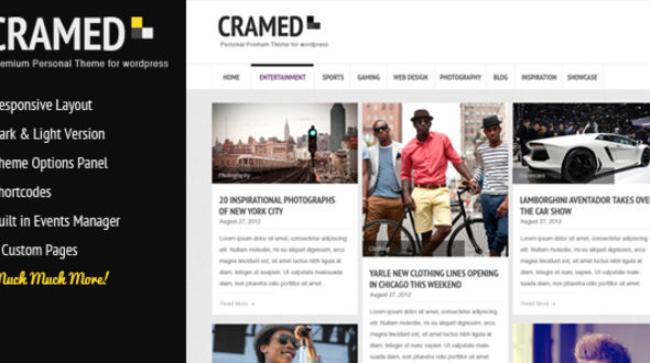 Cramed – Personal Responsive Blogging Theme