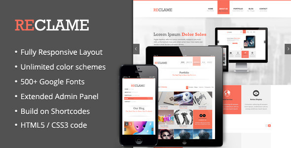 Reclame – Responsive WordPress Theme