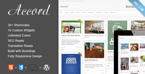 Accord – Responsive WordPress Blog Theme