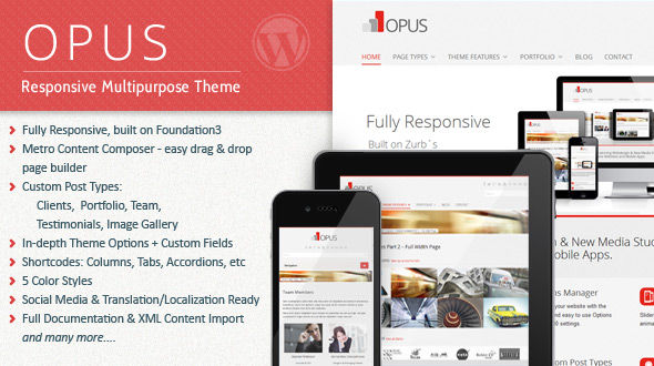Opus Multipurpose Responsive Theme