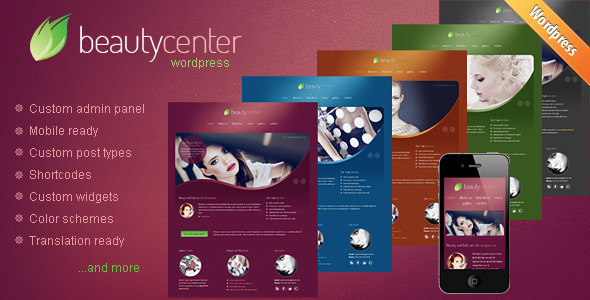 Beauty Center – Responsive WordPress Theme
