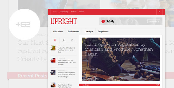 Upright – Magazine WordPress Theme