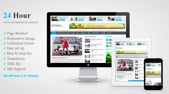 24 Hour – Responsive News WordPress Theme