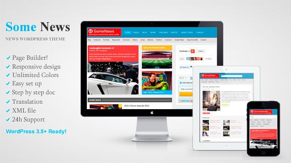 Some News – Responsive WordPress News Theme
