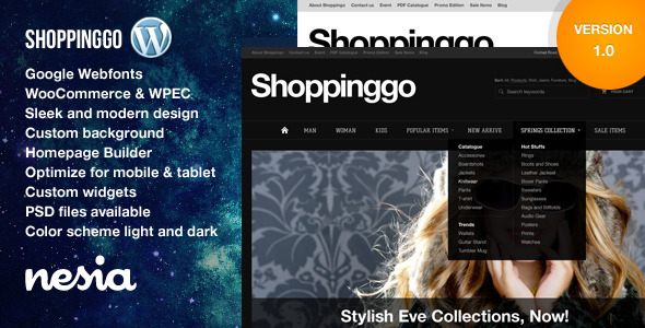 Shoppinggo – WordPress eCommerce Theme