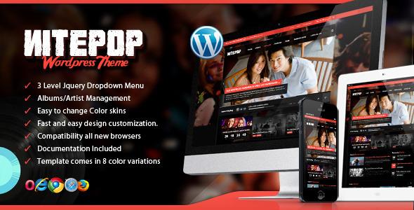 Nite Pop – Music Band/Artist WordPress Theme
