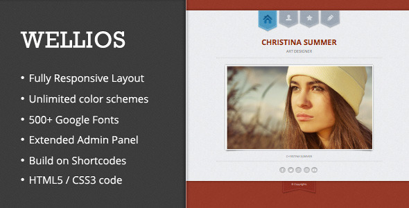 Wellios – Responsive VCard WordPress Theme