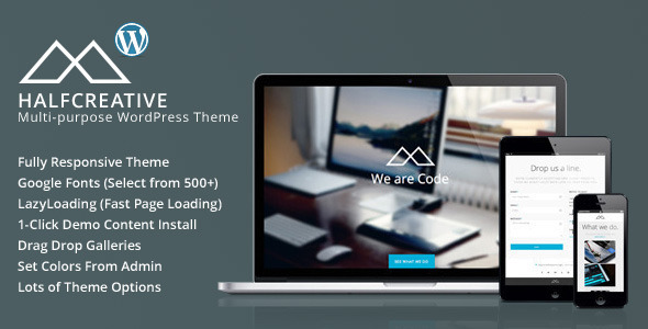 HalfCreative – One Page Portfolio WordPress Theme