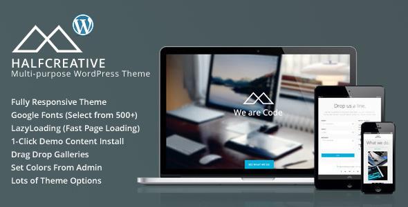HalfCreative – One Page Portfolio WordPress Theme
