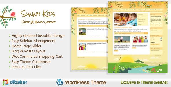 Sunny Kids – Responsive Creative WooCommerce Theme
