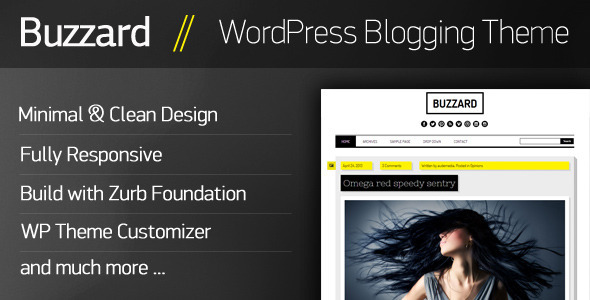 Buzzard – WordPress Responsive Blogging Theme