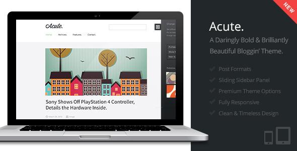 Acute | Beautiful & Responsive Blogging Theme