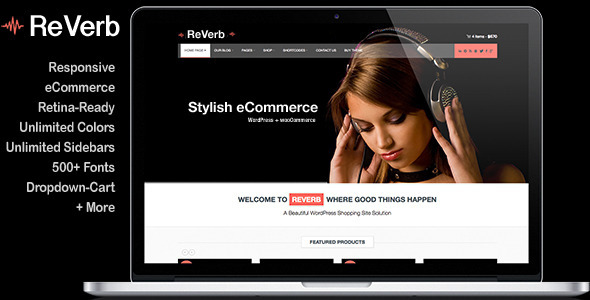 ReVerb – Responsive WooCommerce Theme