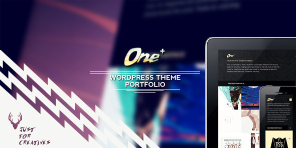 One Plus – Portfolio Theme Just for Creatives