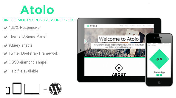 Atolo Single Page WordPress Theme