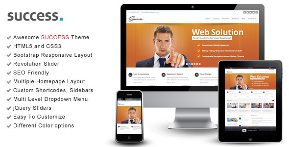 Success – WordPress Bootstrap Theme