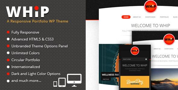 Whip – Responsive Portfolio WP Theme