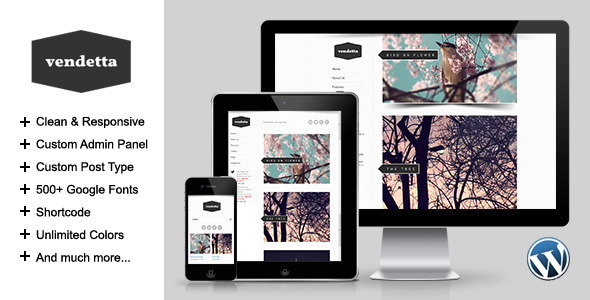Vendetta – Responsive Portfolio WordPress Theme