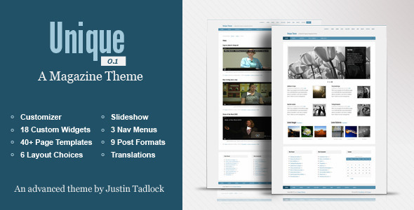 Unique: Customizable WordPress Magazine Theme