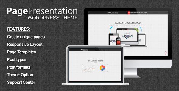 Page Presentation WordPress Theme