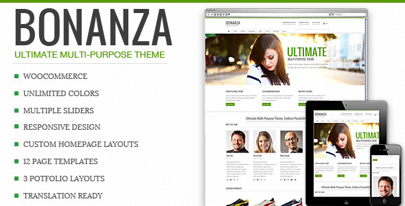 Bonanza – Responsive Multi-Purpose WordPress Theme