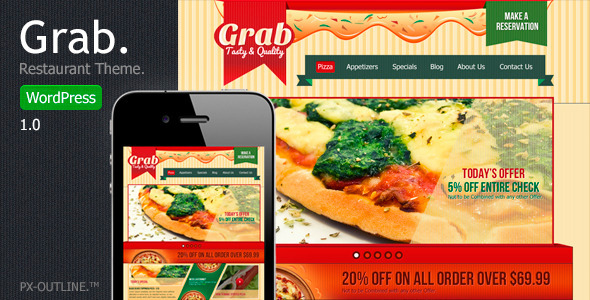 Grab Restaurant – WordPress Theme