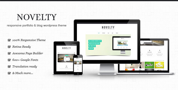 Novelty – Retina Ready Responsive WordPress Theme