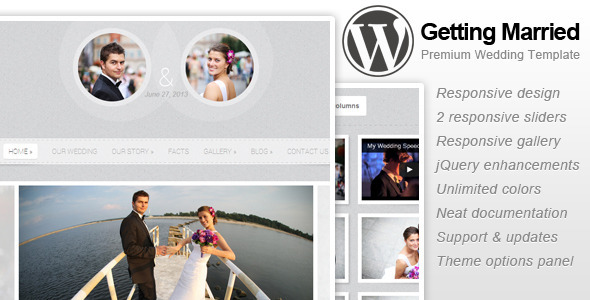 Getting Married – Responsive WordPress Theme