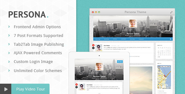 Persona – Responsive AJAX Blog and Portfolio Theme