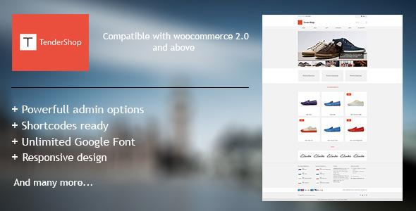 TenderShop – Minimal WordPress eCommerce Theme