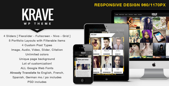 Krave – Responsive WordPress Modern Theme