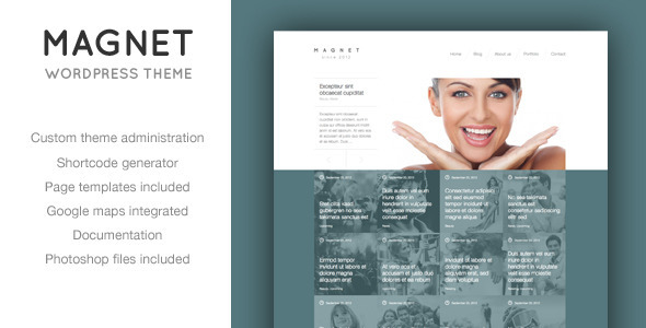 Magnet – Unique News or Portfolio WordPress Theme