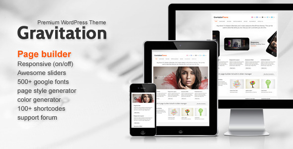 Gravitation – Responsive Business WordPress Theme