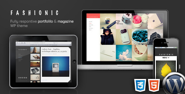 Fashionic – Portfolio/Magazine WordPress Theme