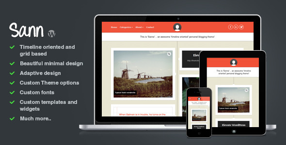 Sann – Timeline Oriented Personal Blog WP Theme