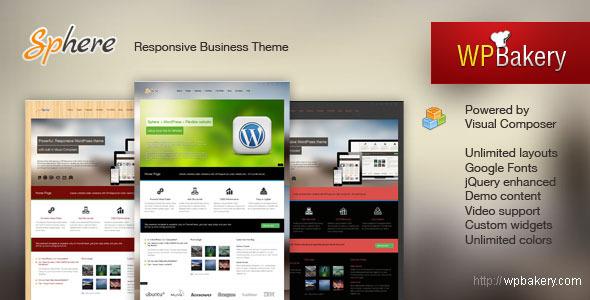 Sphere – Multi Purpose Responsive WordPress Theme