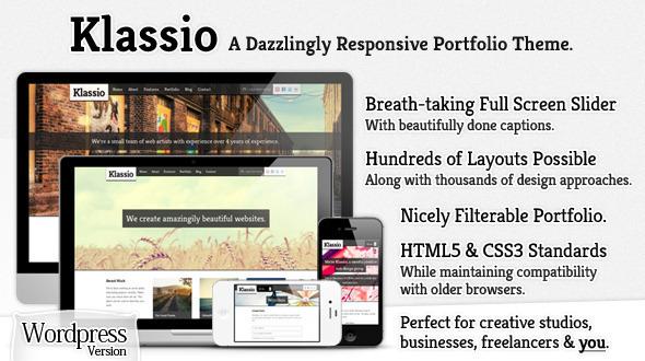 Klassio – Responsive WordPress Business Portfolio