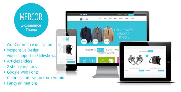Mercor – Responsive WordPress WooCommerce Theme