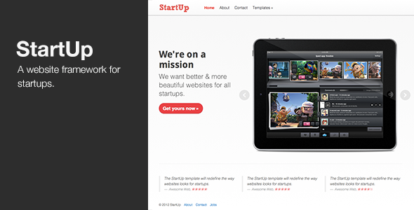 StartUp – WordPress theme for Startups