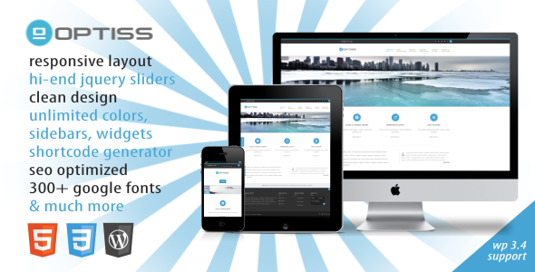 Optiss – Responsive Business WordPress Theme