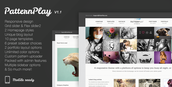 PatternPlay – A Responsive, clean & unique theme