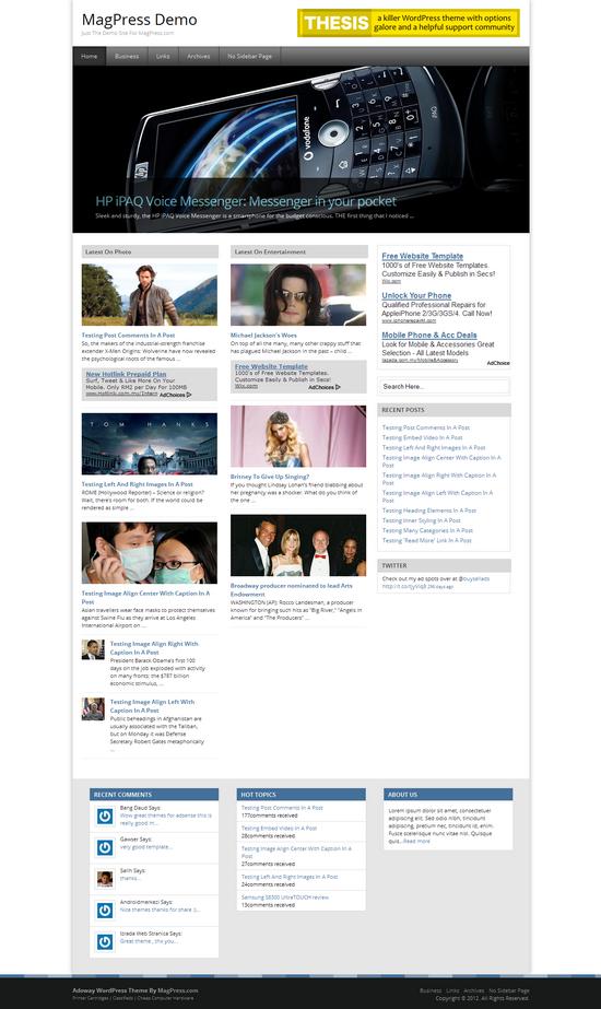 Adoway  WordPress Theme Free Download
