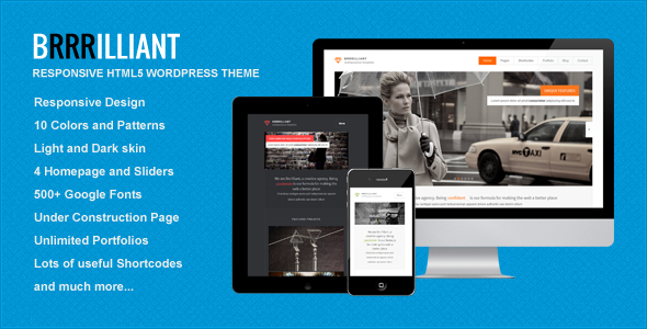 Brrrilliant – WordPress Responsive HTML5 Template