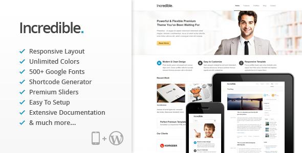 Incredible – Responsive WordPress Theme