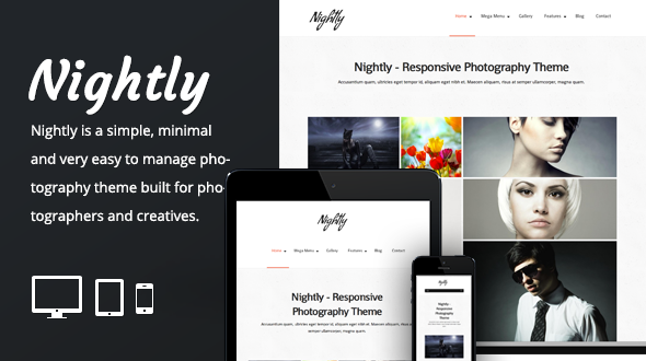 Nightly – Simple Responsive Photographers Theme