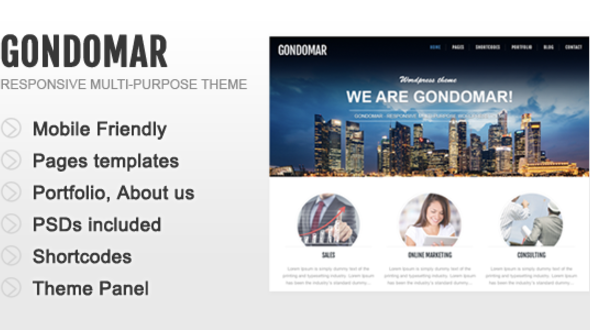 Gondomar – Multi-Purpose Responsive WordPress Theme