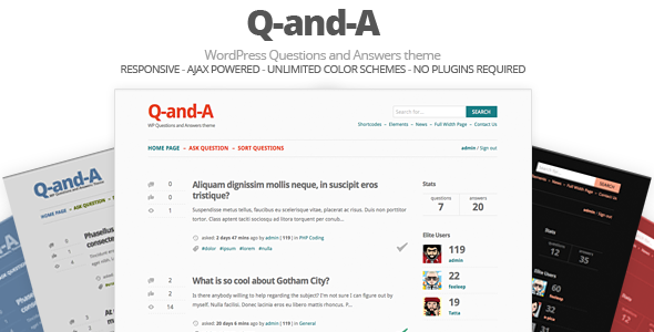 Q-and-A, WP Questions and Answers