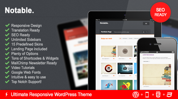 Notable – Ultimate Multipurpose WordPress Theme